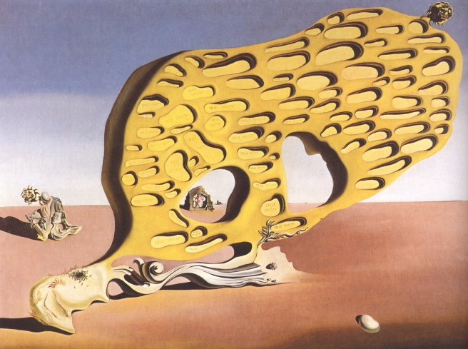 Salvador Dali, The enigma of my desire or my mother my mother my mother-1929.jpg